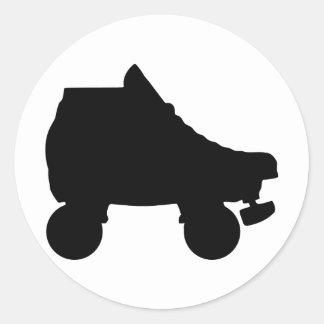 roller skate round sticker