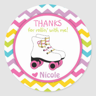 Roller Skate Stickers / Roller Skate Favor Tags