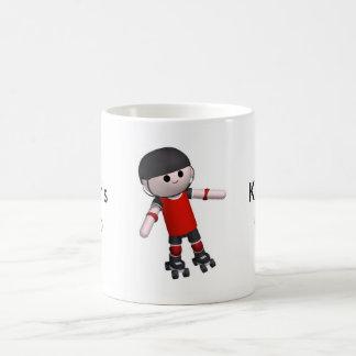 roller-skates basic white mug