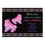 "Roller Skates Birthday Party Invitations 5"" X 7"" Invitation Card"