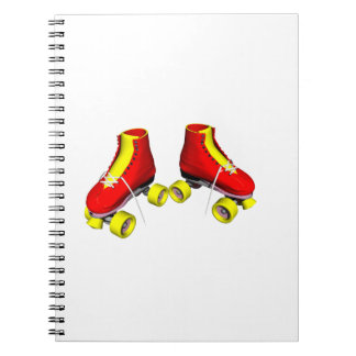 roller skates red & yellow note book