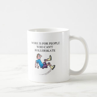 roller skating accident coffee mug