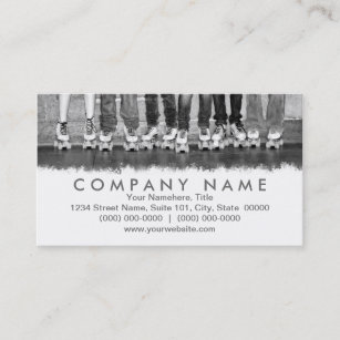 Roller skating business cards business card printing zazzle uk roller skating business cards reheart Choice Image
