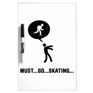 Roller Skating Dry Erase Whiteboard