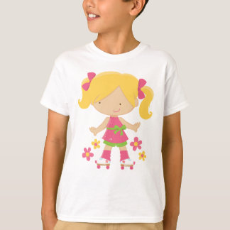 Roller Skating Girl Cute Skater Kids T-shirt
