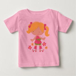 Roller Skating Girl Cute Skater Kids T-shirt