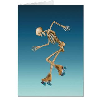 Roller Skating Skeleton Blues Card