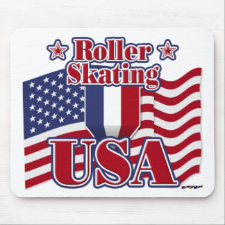 Roller Skating USA Mouse Pad
