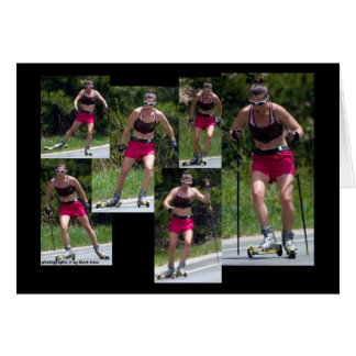 Roller Skiing 2 Note Card