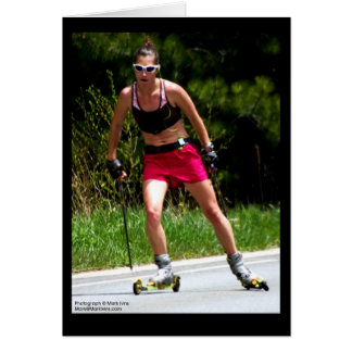 Roller Skiing Note Card