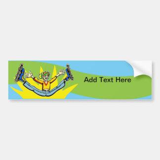 Rollerblading Bumper Sticker