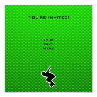 Rollerblading cop 13 cm x 13 cm square invitation card