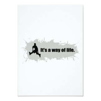 Rollerblading is a Way of Life 13 Cm X 18 Cm Invitation Card