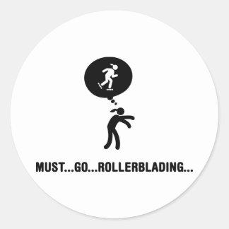 Rollerblading Round Sticker