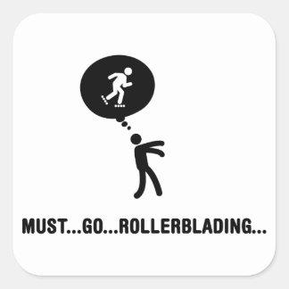 Rollerblading Square Stickers