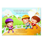 Rollerblading Tots Invitation 13 Cm X 18 Cm Invitation Card