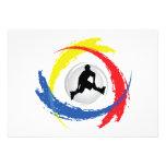 Rollerblading Tricolor Emblem Personalized Invitation