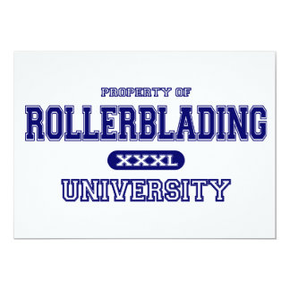 Rollerblading University 5x7 Paper Invitation Card