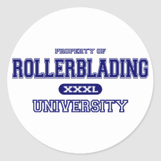 Rollerblading University Stickers