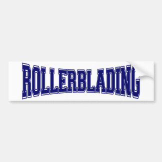 Rollerblading University Style Bumper Sticker