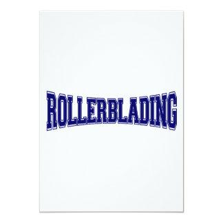 Rollerblading University Style 13 Cm X 18 Cm Invitation Card