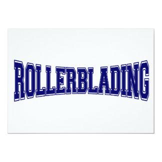 "Rollerblading University Style 5"" X 7"" Invitation Card"