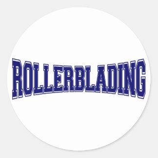 Rollerblading University Style Round Sticker