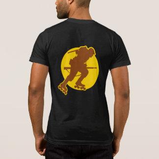 Rollerblading WWII Pocket-T Front & Back T-Shirt