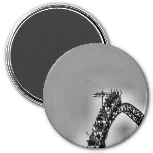 Rollercoaster 7.5 Cm Round Magnet