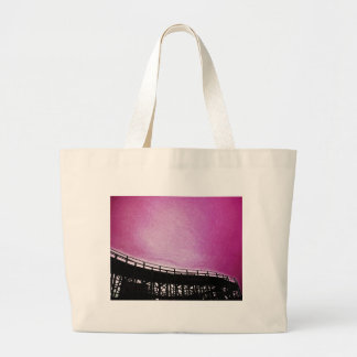 Rollercoaster in pink canvas bags