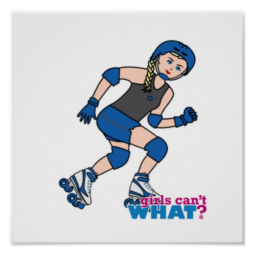 Rollerderby Girl Light/Blonde Posters