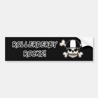 RollerDerby Rocks Skull Bumper Stickers
