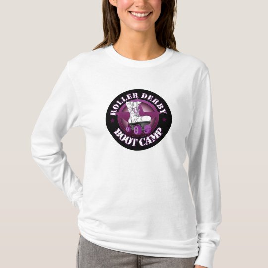 RollerDerbyBootCamp long sleeve t shirt