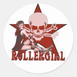 rollergirl pin up diva sticker