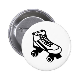 Rollerskate 6 Cm Round Badge