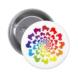 rollerskate rainbow circle 6 cm round badge
