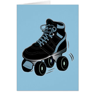 Rollerskate Thanks for Coming to Party and Gift Note Card