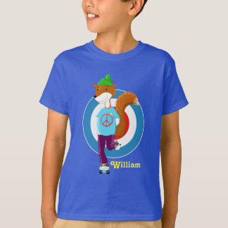 Rollerskating Fox T-Shirt