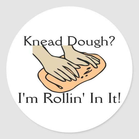Rollin' Dough Round Sticker