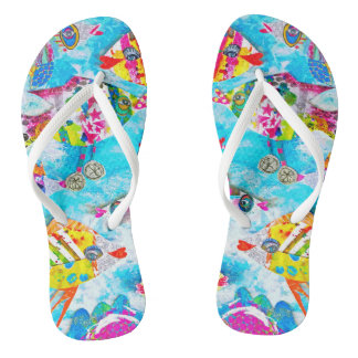"""Rollin' Down the River"" Fishy Flops Flip Flops"