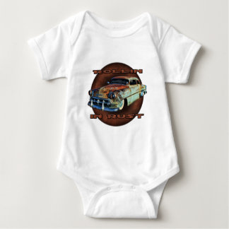 Rollin in rust Tail Dragger Chopped Chevy Baby Bodysuit