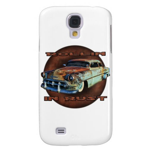 Rollin in rust Tail Dragger Chopped Chevy Galaxy S4 Cover