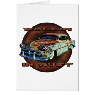 Rollin in rust Tail Dragger Chopped Chevy Greeting Card