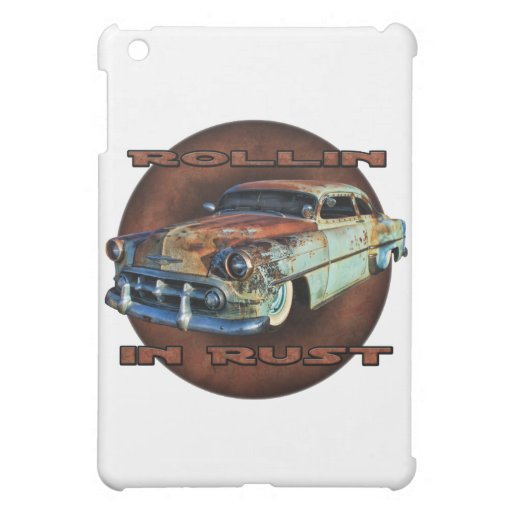 Rollin in rust Tail Dragger Chopped Chevy Cover For The iPad Mini