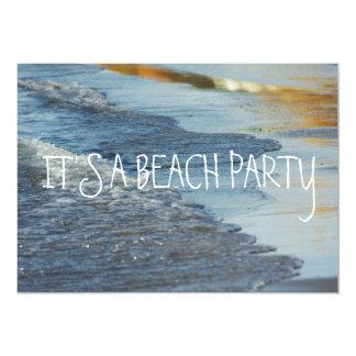 "Rolling Beach Waves Lake Michigan Shoreline Ocean 5"" X 7"" Invitation Card"