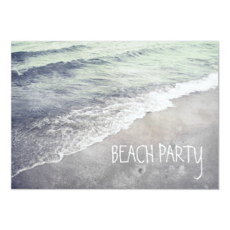 Rolling Beach Waves Ocean Lake Michigan 13 Cm X 18 Cm Invitation Card