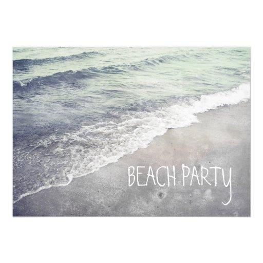 Rolling Beach Waves Ocean Lake Michigan Personalized Invitation