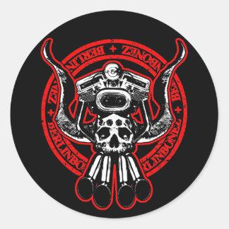 Rolling Bonez II Round Sticker