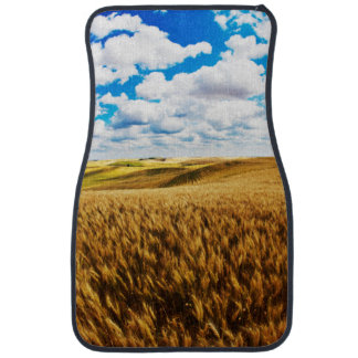 Rolling hills of ripe wheat car mat