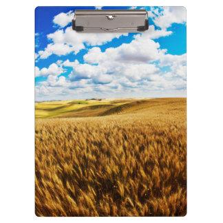Rolling hills of ripe wheat clipboard